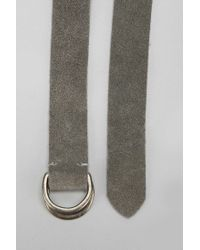 Urban Outfitters - Gray Suede D-ring Belt for Men - Lyst