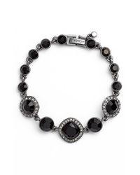 Givenchy - Jeweled Line Bracelet - Hematite/ Black - Lyst