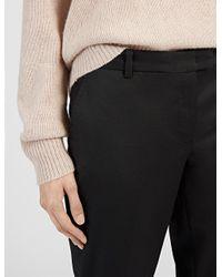 JOSEPH   Black Ben Straight Wool Trousers   Lyst