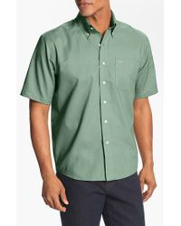 Cutter & Buck - Green 'nailshead' Classic Fit Epic Wrinkle Free Sport Shirt for Men - Lyst