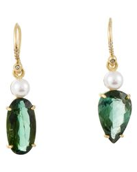 Irene Neuwirth | Green Diamond, Gemstone & Pearl Drop Earri | Lyst