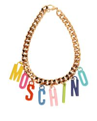 Moschino - Metallic Chain Necklace With Charms - Lyst