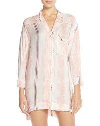 Free People | Pink Printed Night Shirt | Lyst