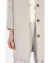 Karen Millen | Gray Wool Mohair Short Coat | Lyst
