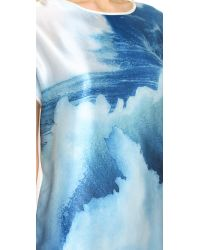 Tess Giberson | Blue Wave Collage Dress - Wave Print | Lyst