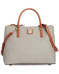 Dooney & Bourke - Gray Pebble Willa Zip Satchel - Lyst