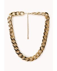 Forever 21 - Metallic Underground Curb Chain Choker - Lyst