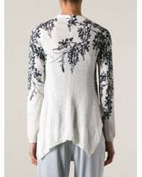Ann Demeulemeester | Black Floral Print Cardigan | Lyst