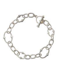 Judith Ripka | Metallic Contempo Silver Chain Bracelet | Lyst