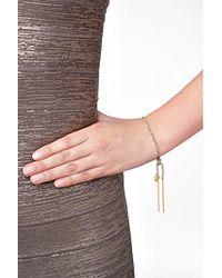 Carolina Bucci | Metallic 18K Gold/Silk Woven Tassel Bracelet In Teal | Lyst