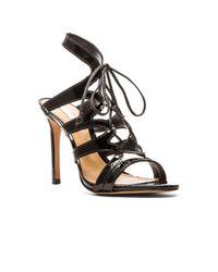 Schutz - Dubiana Lace Up Sandals - Black - Lyst
