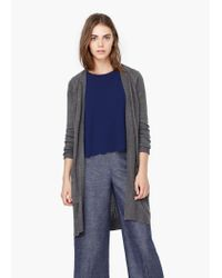 Mango - Gray Side Pockets Cardigan - Lyst