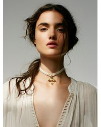Free People - Natural Gojjam Velvet Choker - Lyst