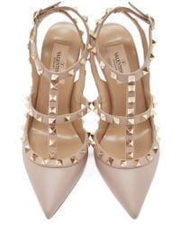 Valentino | Pink Mauve Rockstud Cage Pumps | Lyst