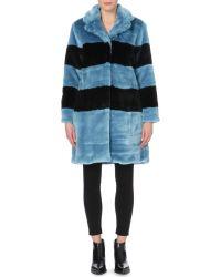 Marc By Marc Jacobs - Blue Boxy Faux-Fur Coat - Lyst