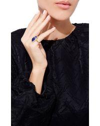 Sidney Garber | Blue Petite Scarab Ring | Lyst