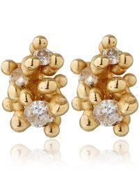 Ruth Tomlinson - Metallic Gold Diamond Granule Stud Earrings - Lyst