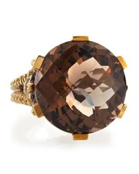 Stephen Dweck | Metallic Round Smoky Quartz Prong Ring | Lyst