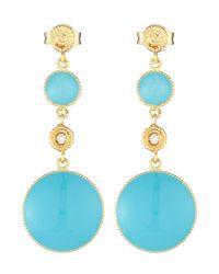 Roberto Coin | Blue Bollicine Diamond  Turquoise Enamel Double-drop Earrings | Lyst