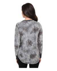 Pj Salvage - Gray Tie-dye Sweater - Lyst