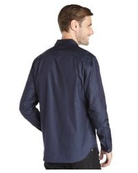 Elie Tahari - Blue Cotton Indigo Shirting 'steve' Shirt for Men - Lyst
