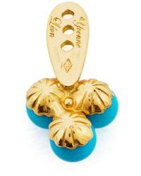 Yvonne Léon | Metallic 18Kt Gold And Turquoise Trilogy Earring | Lyst