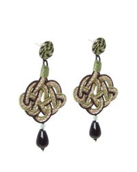 Anna E Alex - Black Jute Lanterna Braided Drop Earrings - Lyst