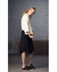Tibi - Black Anson Stretch Wrap Skirt - Lyst