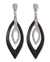 Alexis Bittar | Black Orbital Marquise Crystal  Lucite Earrings | Lyst