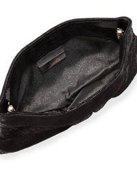 Lauren Merkin - Black Eve Lizard-embossed Clutch Bag - Lyst