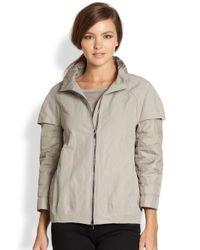 Peserico - Gray Layered Jacket - Lyst