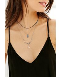 Urban Outfitters - Metallic Goodnight Moon Layer Necklace Set - Lyst