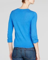 kate spade new york - Blue Somerset Bow Cuff Cardigan - Lyst