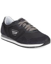 DIESEL - Black Jake Kursal Sneakers for Men - Lyst