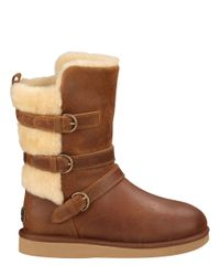 UGG | Brown Ladies Becket Water Resistant Leather Boots | Lyst