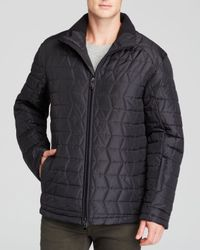 Tumi - Black 3d Quilted Lightweight Puffer Jacket for Men - Lyst