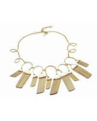 Lele Sadoughi | Metallic Comb Tassel Necklace, Gold | Lyst