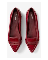 Express - Purple Berry Pointed Toe Loafer - Lyst