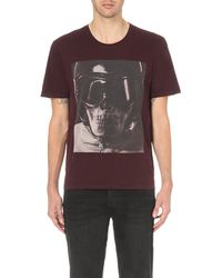 The Kooples - Purple Skull Graphic Cotton T-shirt for Men - Lyst