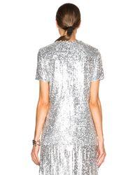 Nina Ricci - Metallic Sequin Top - Lyst