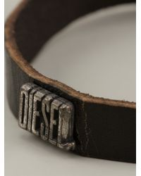 DIESEL | Brown 'amozzar' Pack Bracelet for Men | Lyst