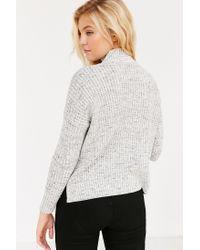 BDG   Gray Waffle Stitch Mock-neck Sweater   Lyst