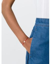 Ruifier - Red 'sassy' 18k Rose Gold Charm Cord Bracelet - Lyst