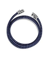 David Yurman | Chevron Triple-wrap Bracelet In Blue for Men | Lyst