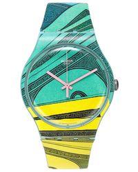 Swatch - Unisex Swiss Money Honey Multicolor Print Silicone Strap Watch 41mm Suog107 - Lyst