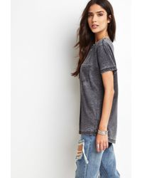 Forever 21 | Gray Heathered Pocket Tee | Lyst