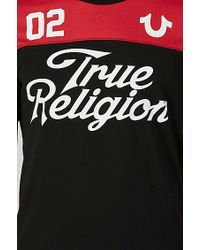 True Religion | Black Hand Picked Football Mens T-shirt for Men | Lyst