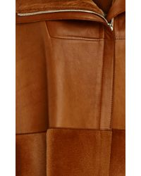 Prabal Gurung | Brown Super Luxe Leather And Kangaroo Cape | Lyst