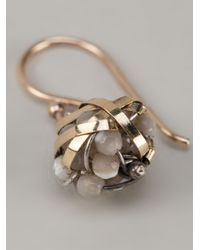 Dosa - Metallic Wrap Orb Earrings - Lyst
