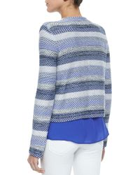 Joie | Blue Jacolyn B Striped Jacquard Jacket | Lyst